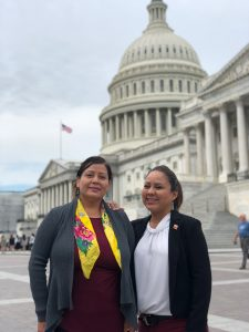 Pamela Foster and Tyesha Wood with the U.S. Capitol Building in the background 2019