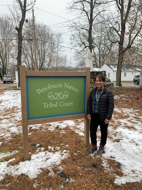 AATTAP-AIIC Staff Member Tyesha Woods at Penobscot Nation Tribal Court to participate in TAP Deployment